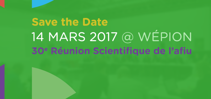 Save the Date 30eme Réunion Scientifique